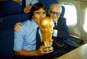 Spagna '82. Sandro Pertini con Bruno Conte