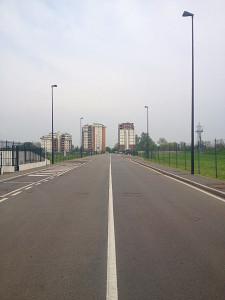 Il lungo viale di ingresso per la Boffalora