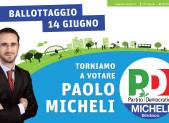 14 giugno 2015 ballottaggio Sindaco di Segrate Paolo Micheli