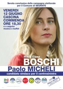 Maria Elena Boschi a Segrate per la chiusura della campagna elettorale di Paolo Micheli